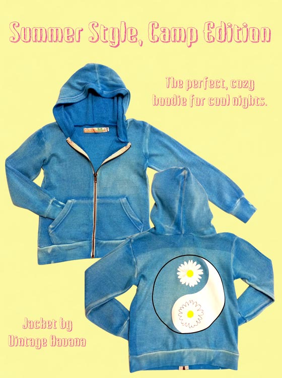 Cute daisy hoodie for cool summer nights.