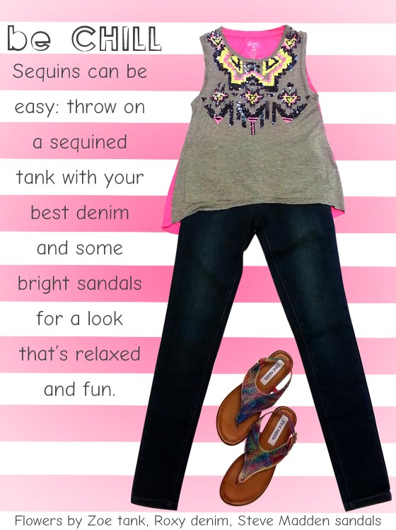 Don't limit the cuteness of a sporty sequined tank. Here are some handy tips!