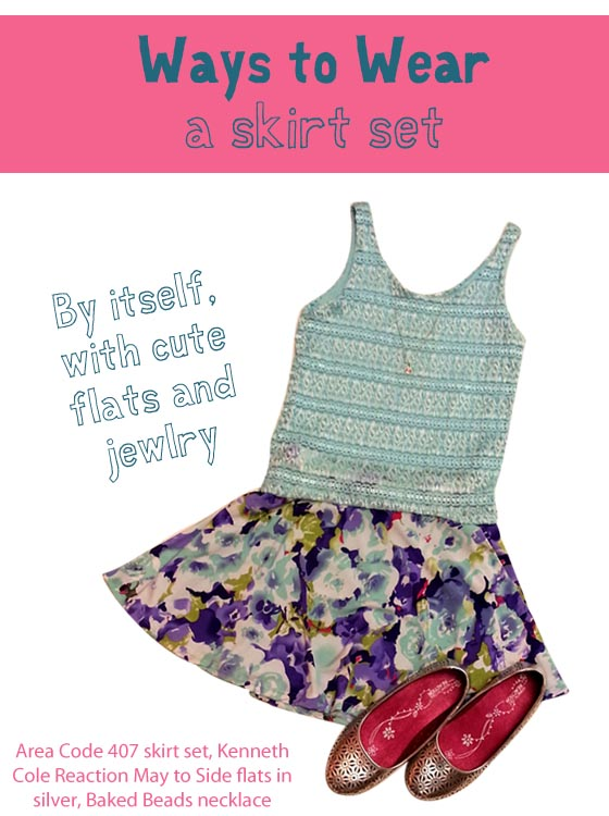 Cute options for getting more use out of your skirt sets.