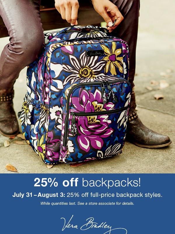Vera Bradley Backpack Promo