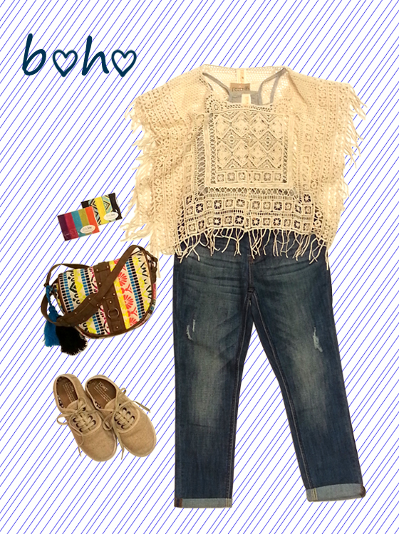 Cute boho look for the end of summer!