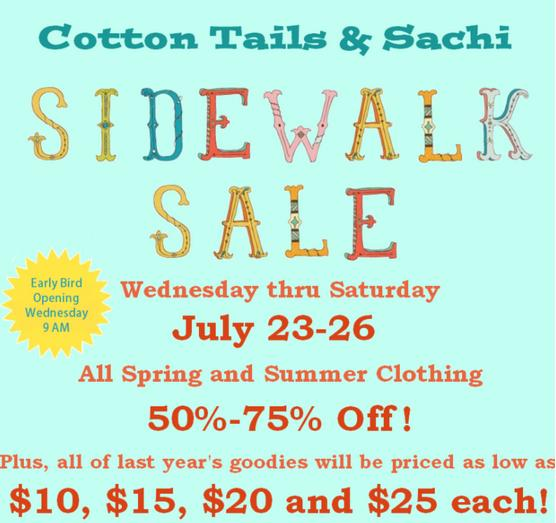 Our Annual Sidewalk Sale July 23-26