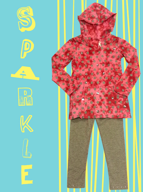 Cool hoodie tunic and leggings just in time for back to school.