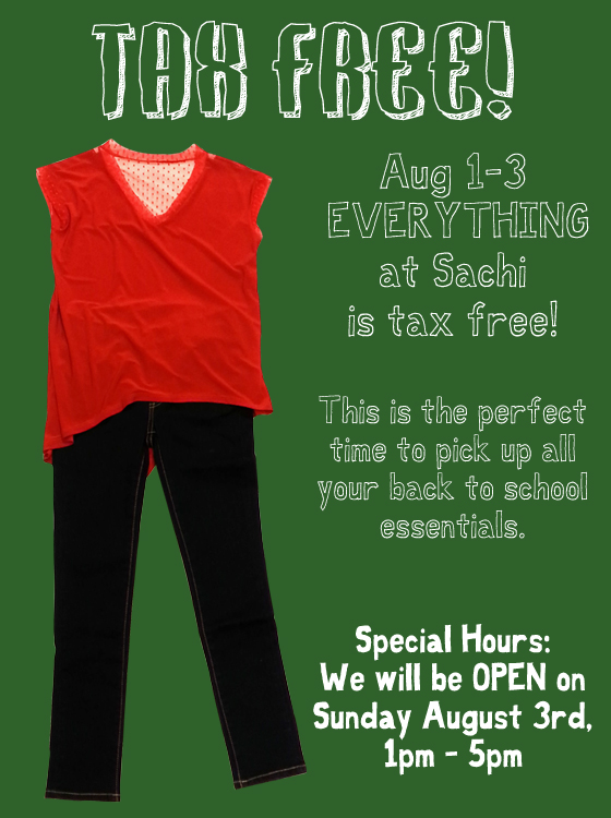 Shop back to school with no sales tax!