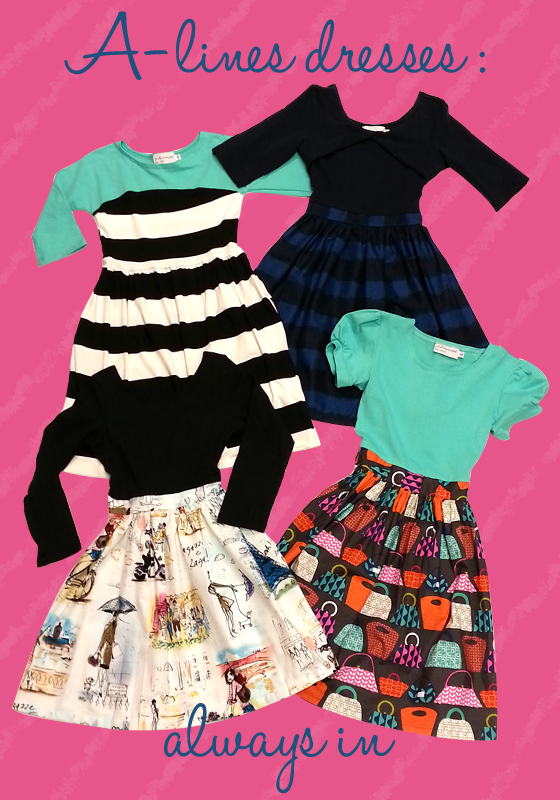 cute full-skirted dresses by Five Loaves Two Fish