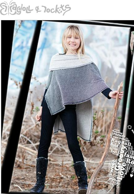 Poncho available as shown; black leggings