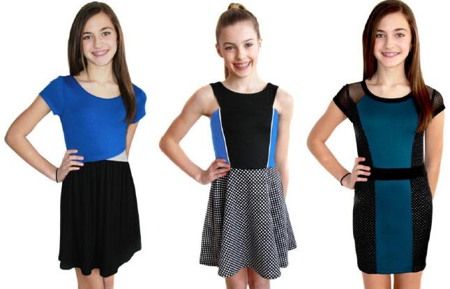 Dresses available as shown at Sachi Girl