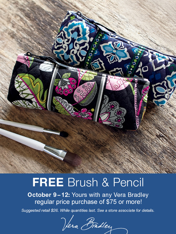 Free Brush & Pencil with $75 purchase