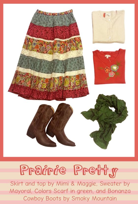Lovely maxi skirt ensemble for fall