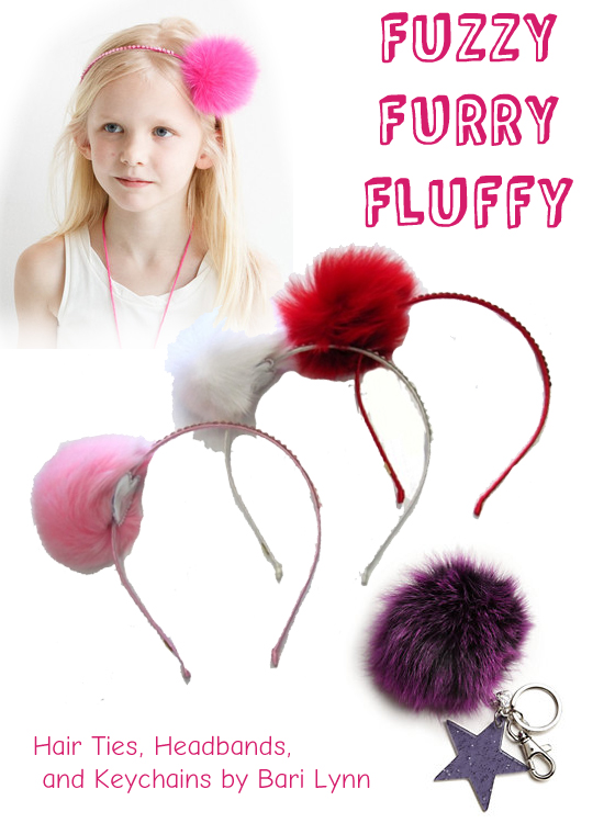 Fun and furry hair accessories by Bari Lynn