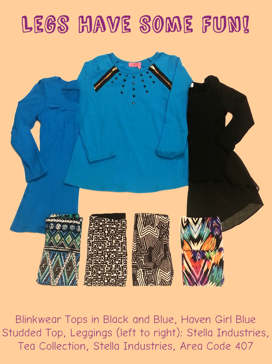 Bright leggings and tops from a variety of brands!