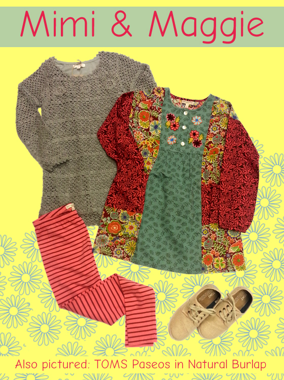 A sweater dress or woven dress with leggings can be quite cute!