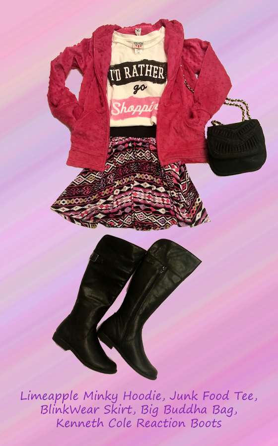 This fall, hang out stylishly in this edgy yet girly look.