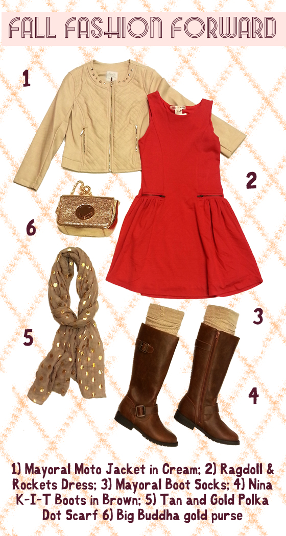 A cute dress with boots, a moto jacket and the best accessories.