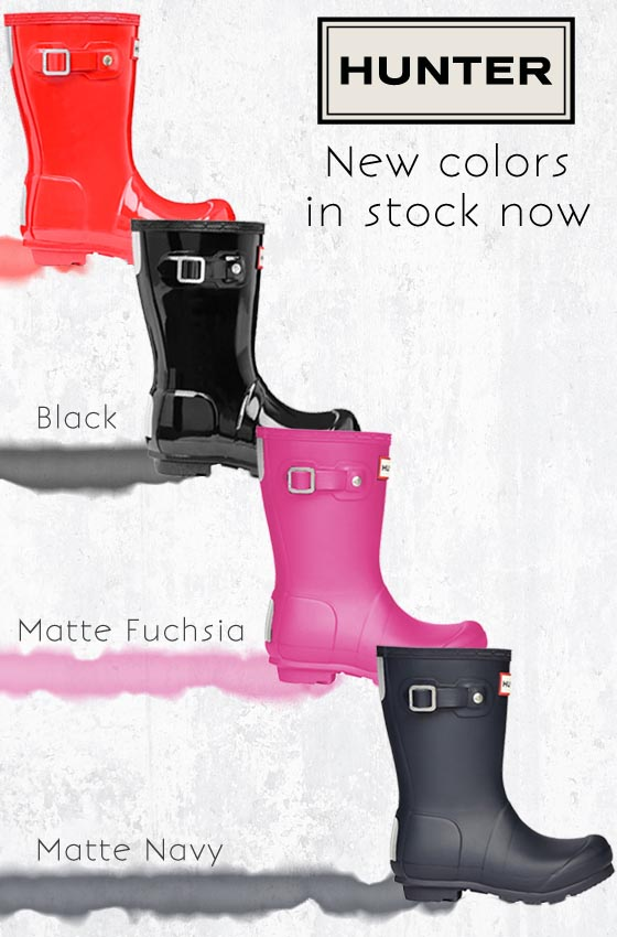 4 New Colors of Hunter Boot now at Sachi
