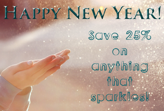 Save 25% on sparkly items!