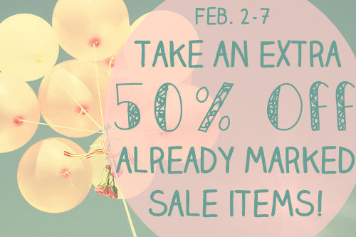Surprise! The sale continues this week…