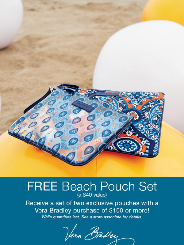 Vera Bradley Beach Pouch Promotion