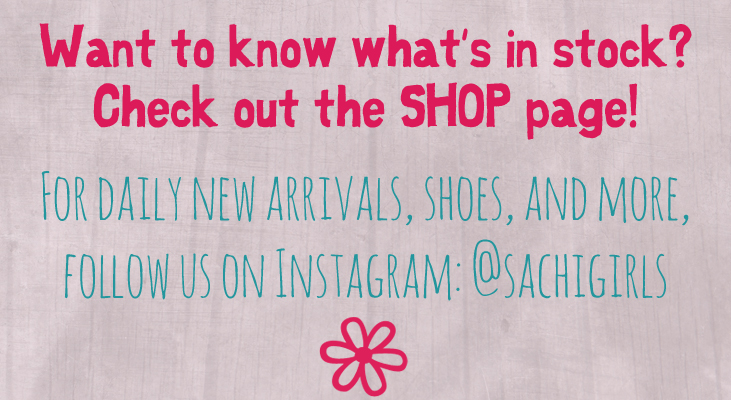 Sachi Girls now has a shop page with item listings for current stock