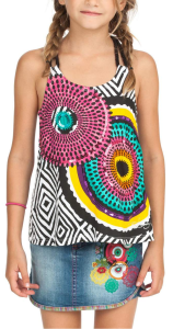 black and colorful tank with rope straps