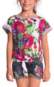 gem patterned tee shirt by desigual
