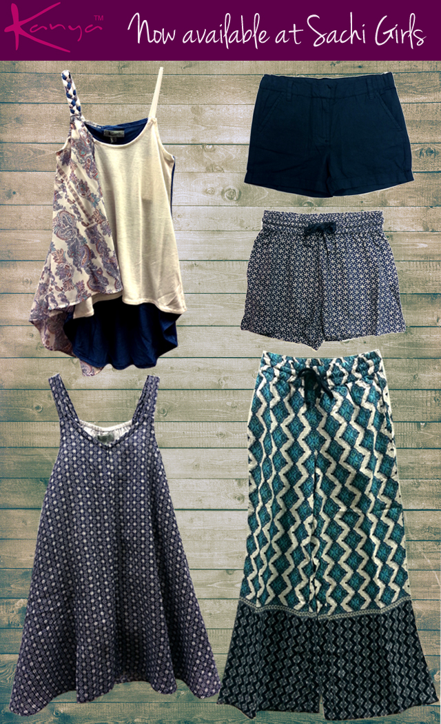 Adorable boho offerings from new line Kanya: shorts, palazzo pants, tanks and dresses!