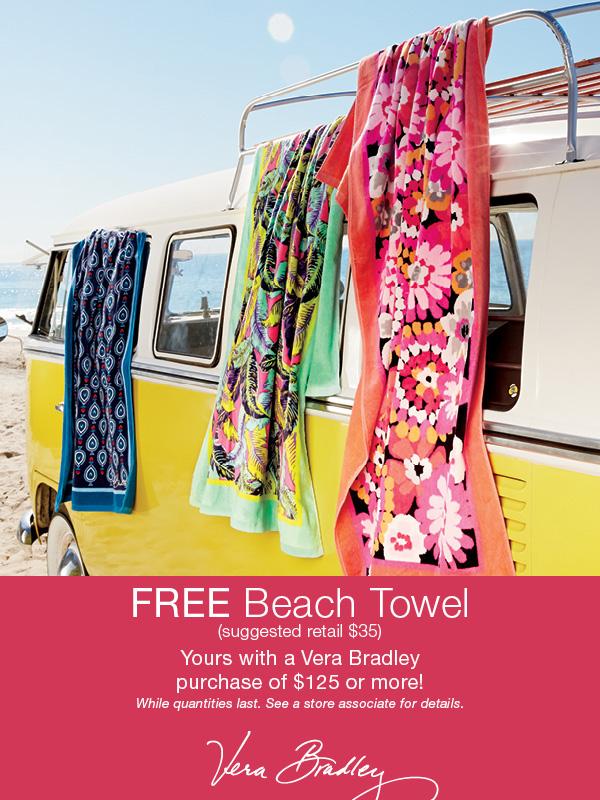 Vera Bradley Beach Towel Promotion