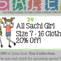Everything in Sachi Girl is ON SALE!
