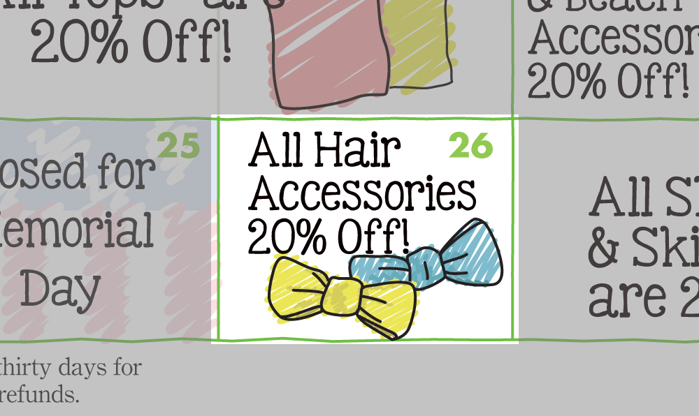 Sachi 2015 Spring Calendar Sale Hair Accessories