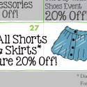 Sachi 2015 Spring Calendar Sale Skirts and Shorts