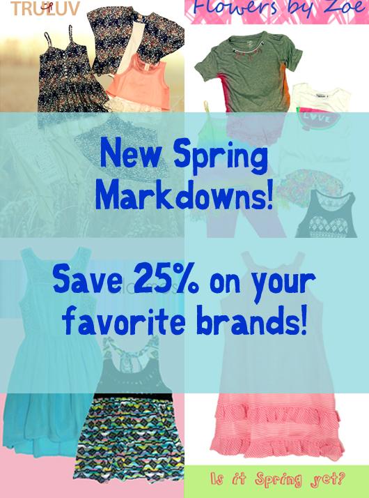 spring markdown