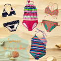 Be a beachside babe in these cute suits from Roxy Girl and Florence Eiseman!