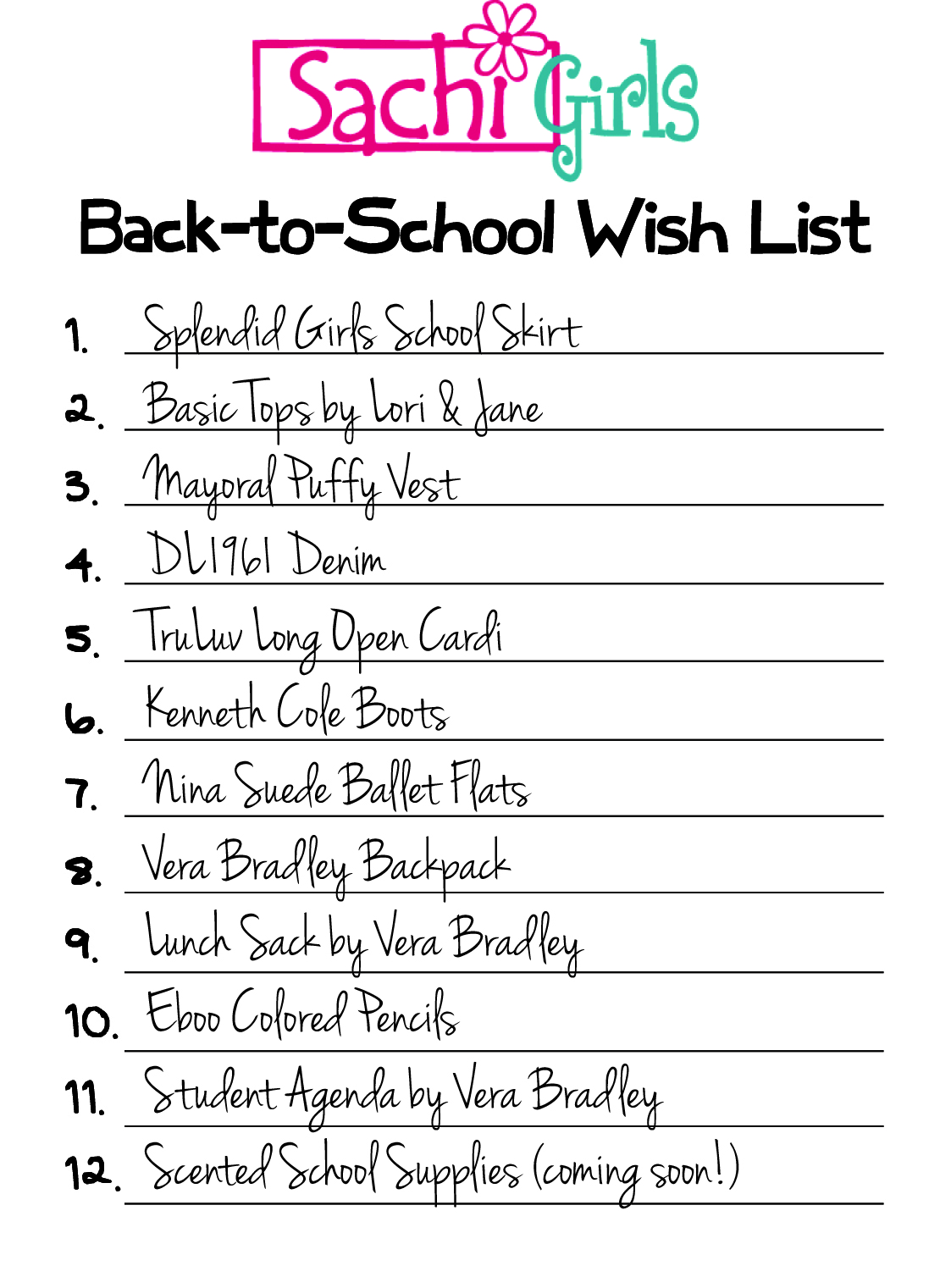Back to School Checklist Demo