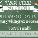 Take a tax break on everything in the store!