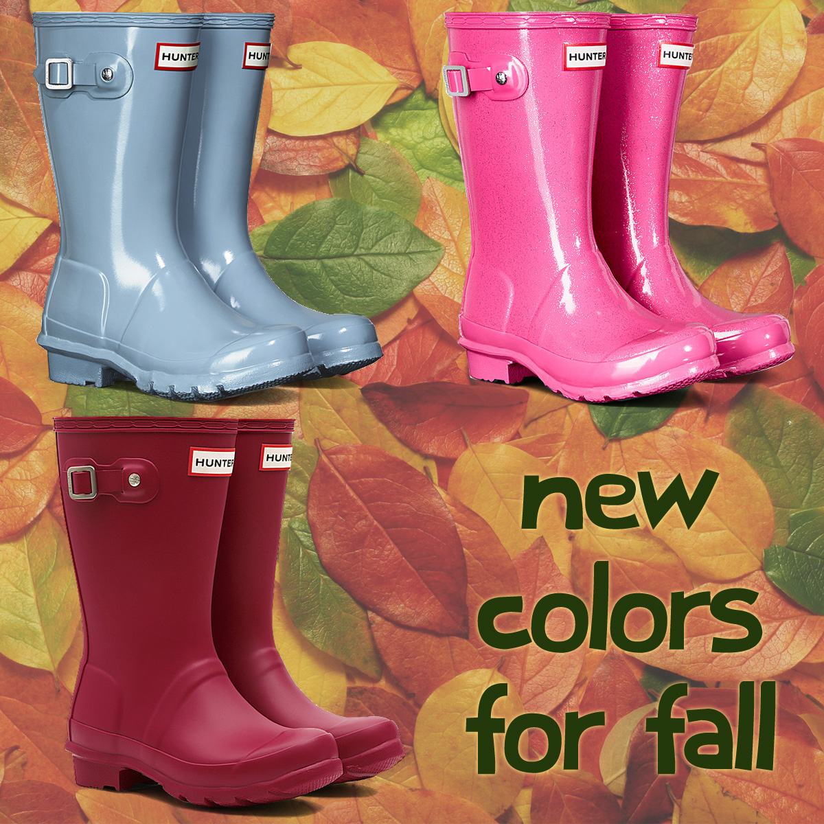 new colors from Hunter Boots