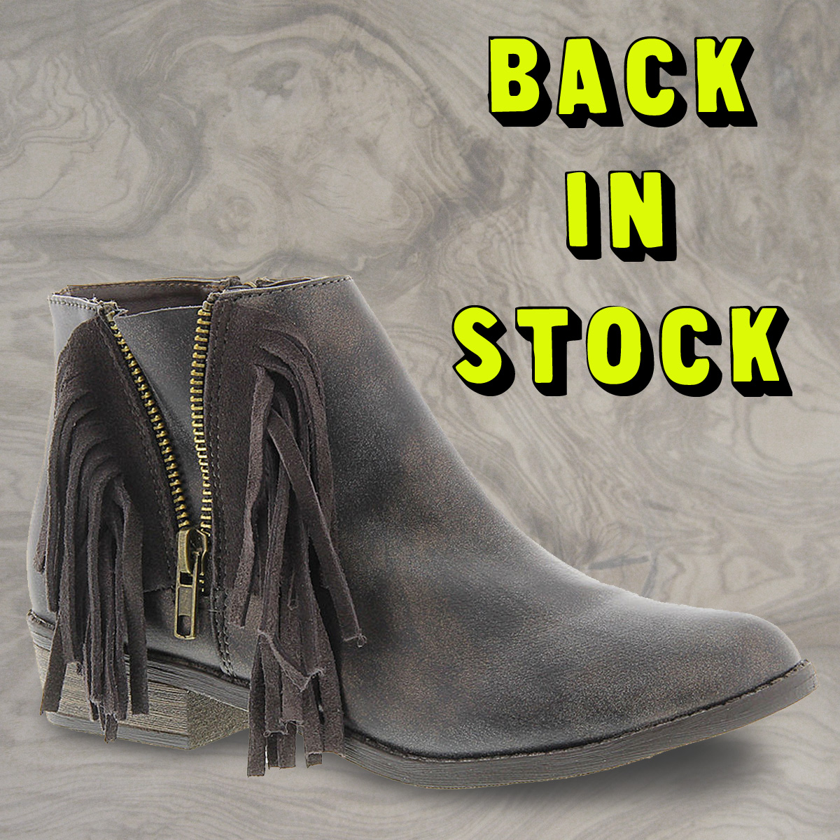 Steve Madden Fringe Bootie is back in stock