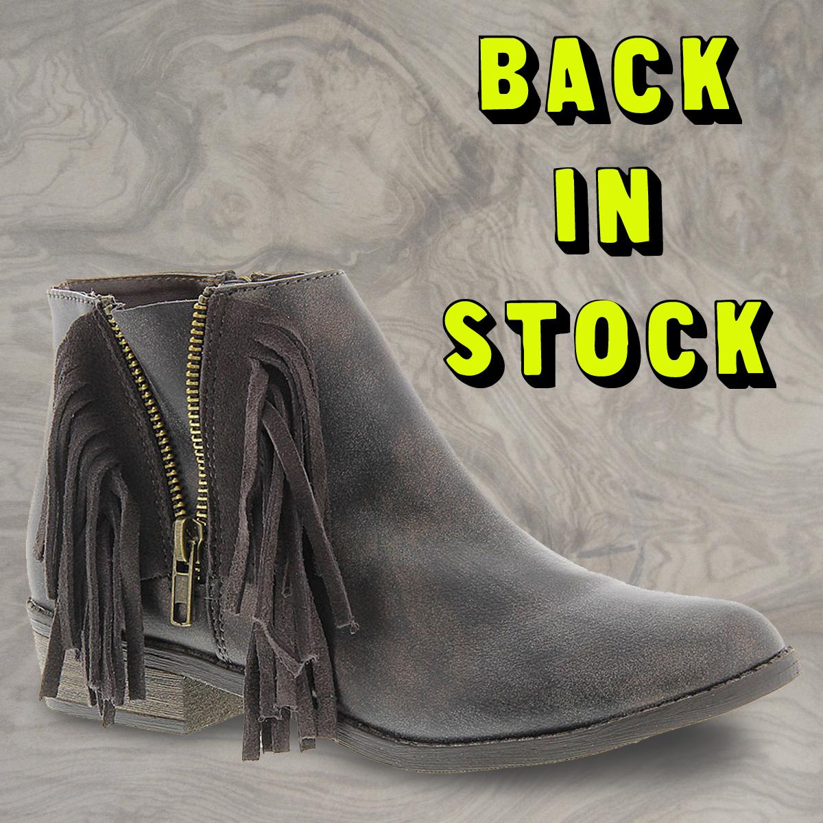 Steve Madden Fringe Bootie is back in stock