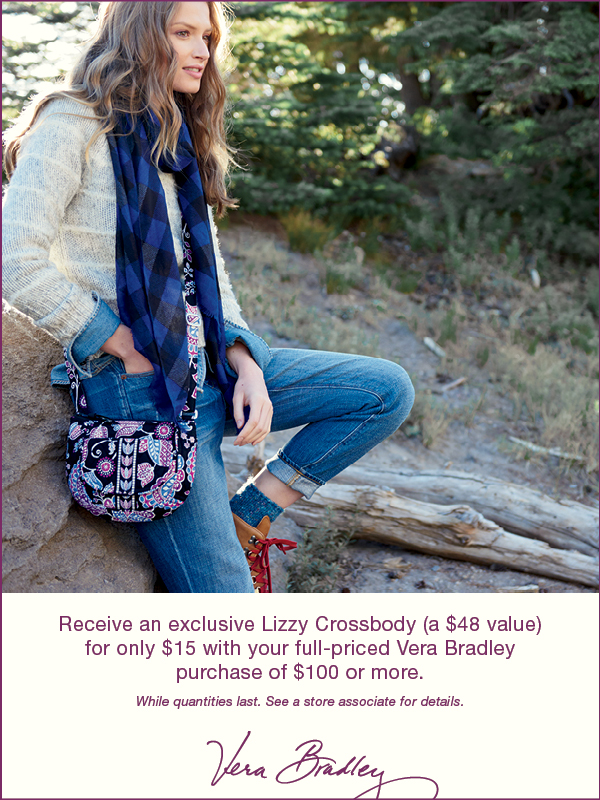 Spend $100+ on new Vera, get a Lizzy purse for only $15!