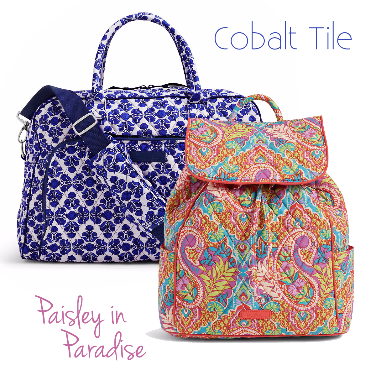 Cobalt Tile and Paisley in Paradise