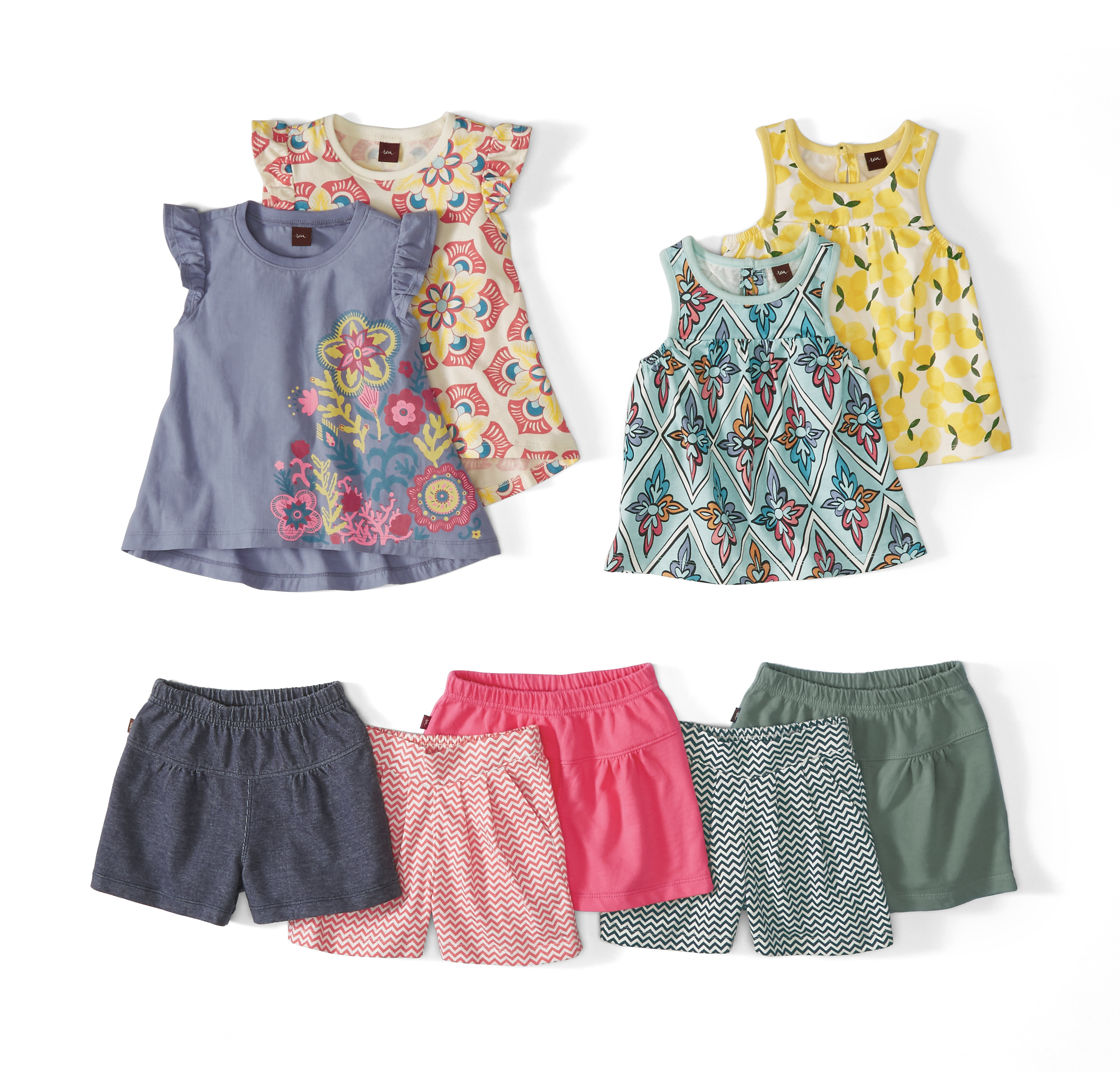 Tea Collection Tops and Shorts