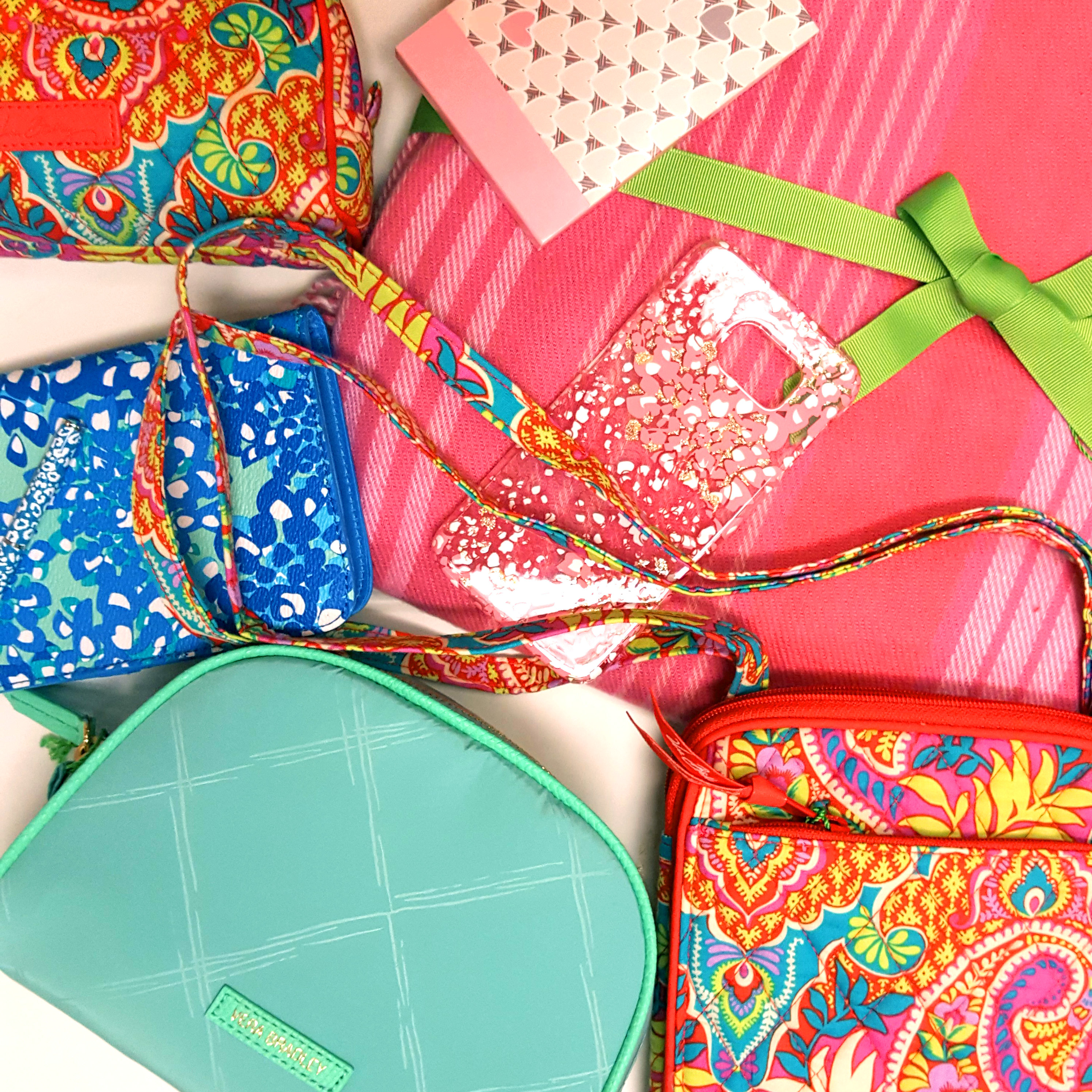 assortment of Vera Bradley items