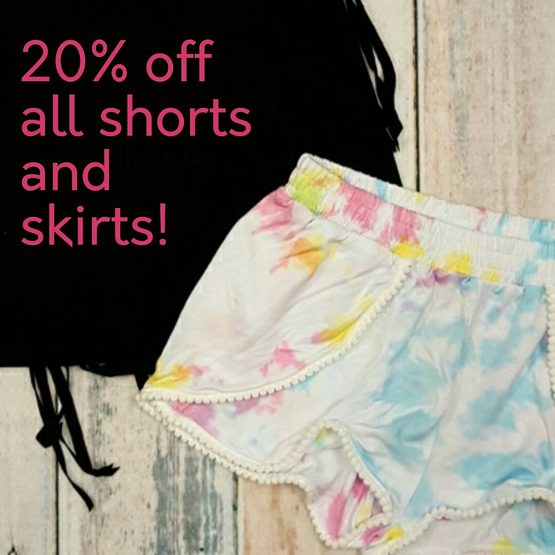 Save on shorts and skirts for summer!