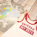 Unicorn shirts from Flowers by Zoe and Vintage Havana