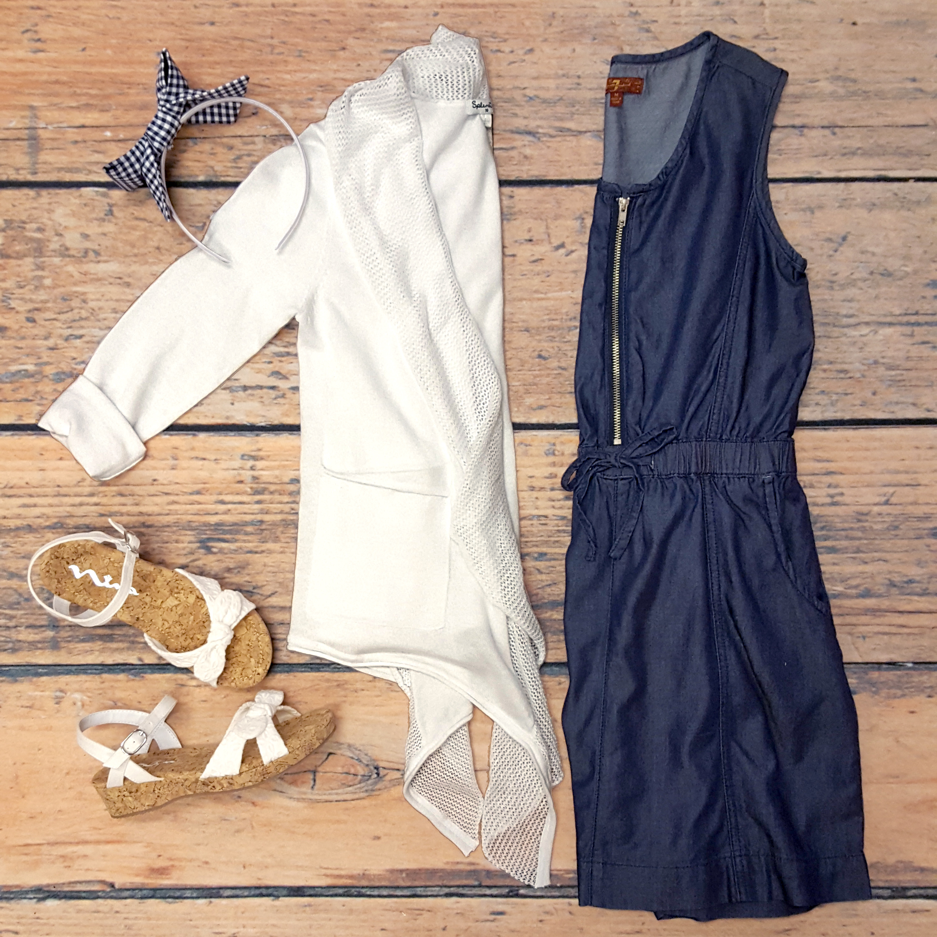 7 for All Mankind Dress,Splendid Cardi,Nina Wedges