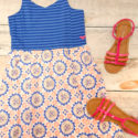 Medallions and Stripes Roxy Girl Dress