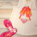 Roxy Tank with Popsicles and Sam Edelman Flip Flops
