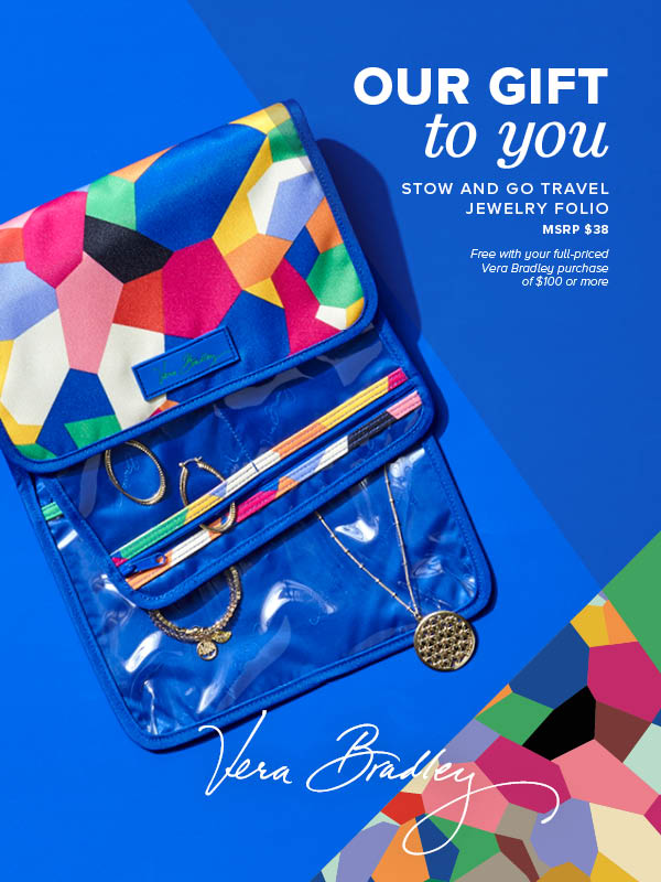 Vera Bradley free jewelry travel folio